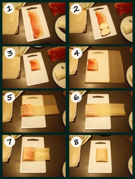 Croustillant Mozza Jambon étapes
