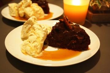Gâteau chocolat noix de pécan