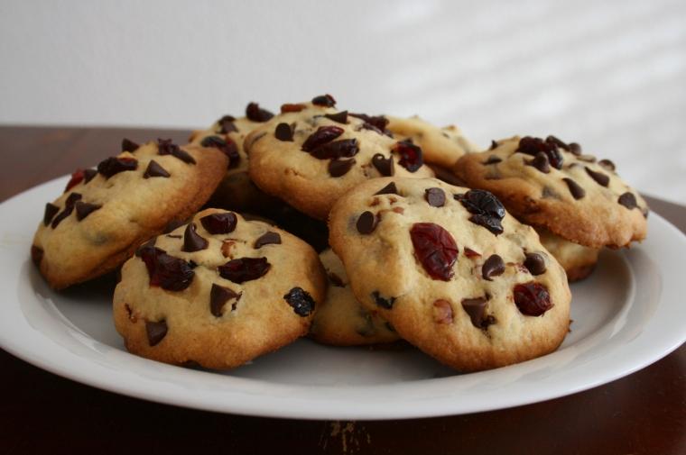 Cookies cranberries, noix de pécan, chocolat3