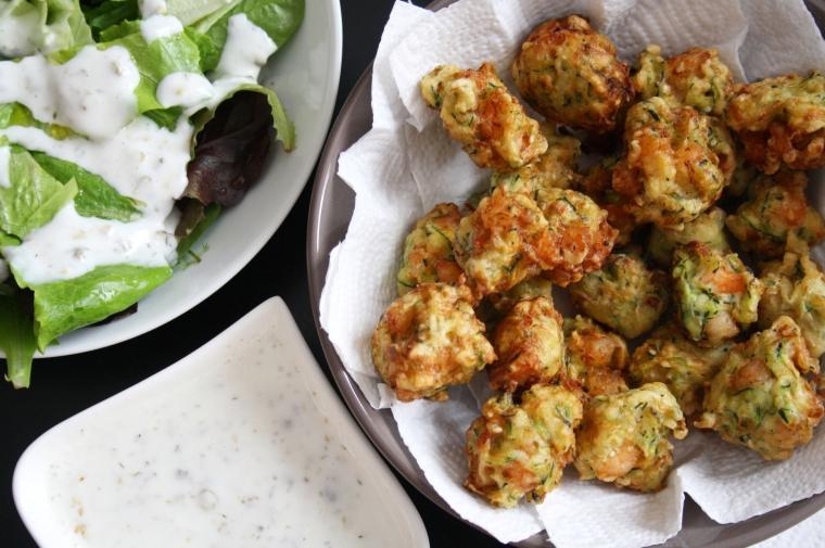 boulettes de courgettes et crevettes1