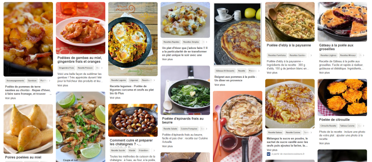 Tableau pinterest bataille food 50