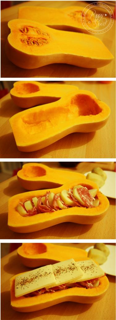 Butternut raclette étapes