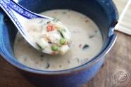 Soupe thai crevettes légume lait de coco